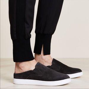 Vince Verrell Black Sneaker Mules Fur Lining 9